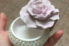 Cofanetto rosa in ceramica, idea bomboniera