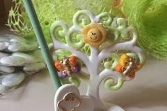 Bomboniera comunione con albero della vita, personalizzato con nome