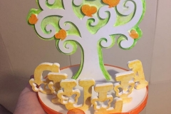 Sopratorta albero della vita per comunione