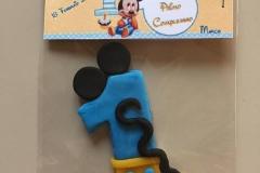 n. 1 topolino realizzato in porcellana fredda per un primo compleanno