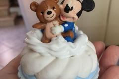 Cupcake Topolino - Cofanetto realizzato in ceramica e dipinto tutto a mano