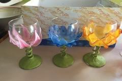 Bicchieri decorati con porcellana fredda